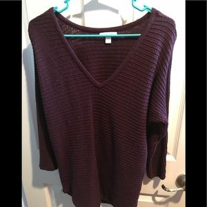 NY&Co dolman sleeve open stitch sweater